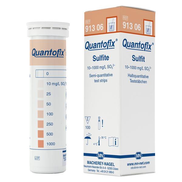 Tiras QUANTOFIX® para la determinación semicuantitativa de sulfito.