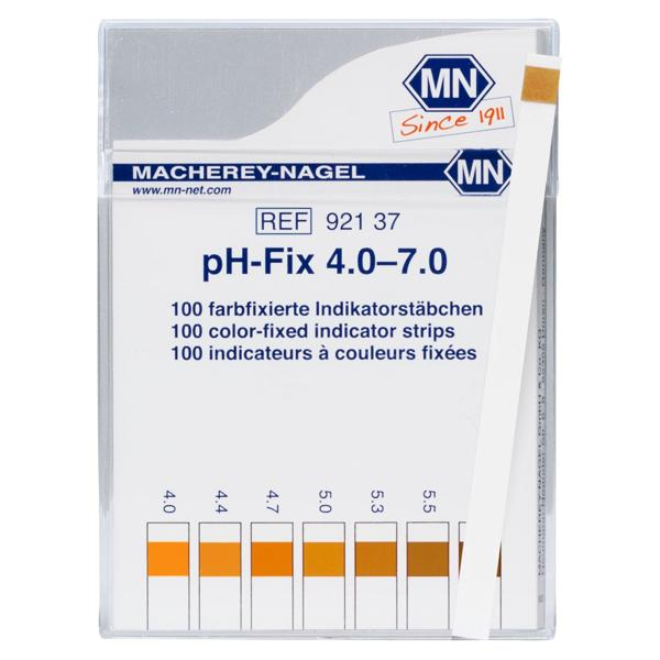 Tiras indicadoras de pH-Fix Rango: 4.0 – 7.0 Macherey Nagel